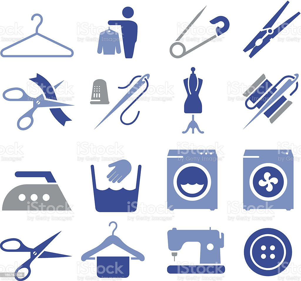 Fabric and Textiles Icons - Pro Series vector art illustration