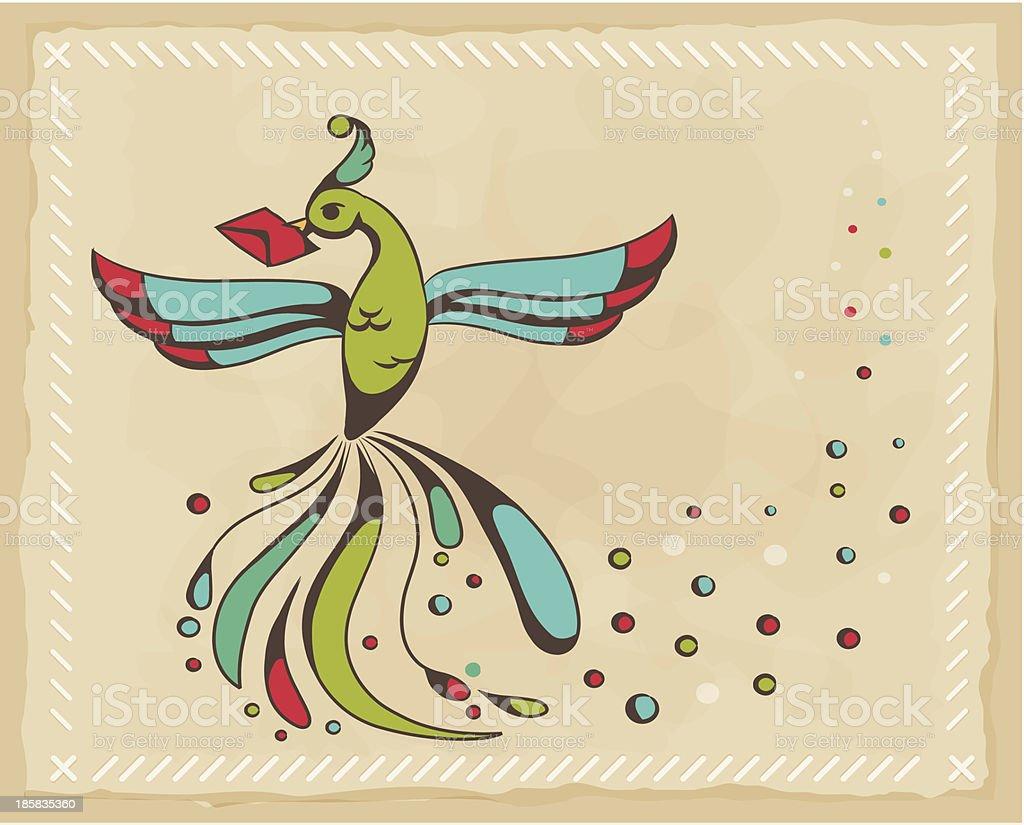 Fabulous bird royalty-free stock vector art