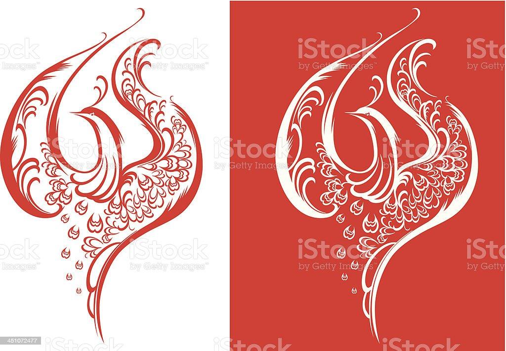 fabulous bird vector art illustration