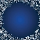 fabulous christmas background lot of snowflakes around the frame