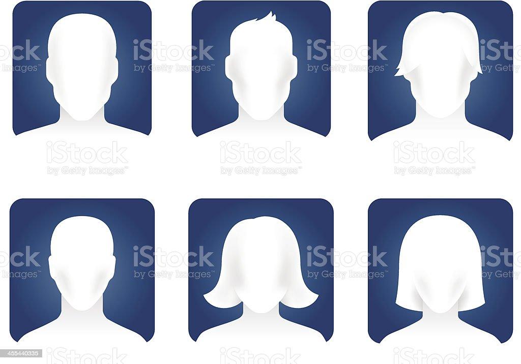 Face Blank vector art illustration
