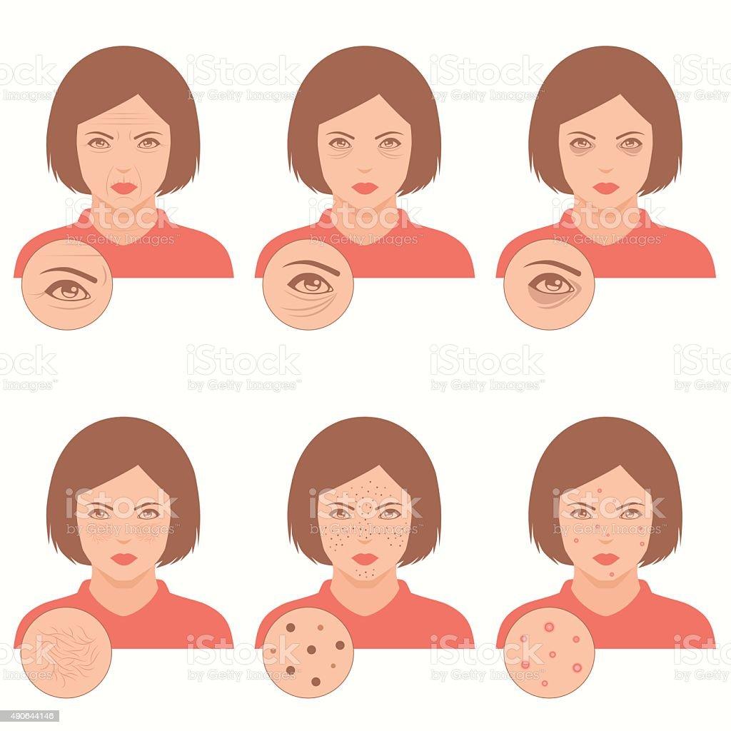 face care, vector art illustration