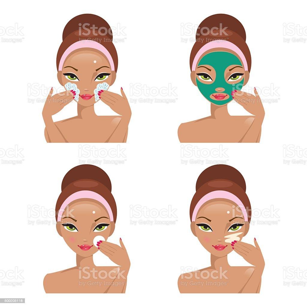 Face Care. Vector Illustration vector art illustration