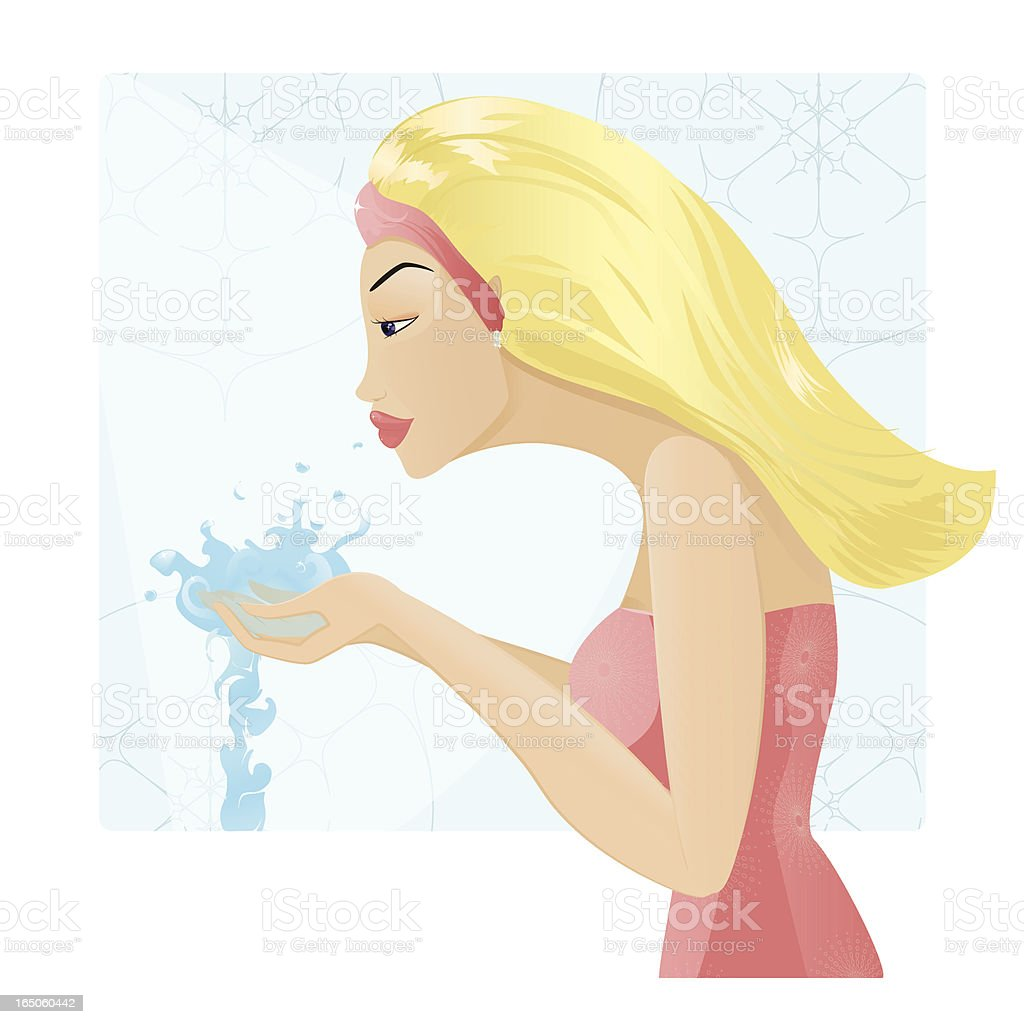 Face cleaning royalty-free stock vector art