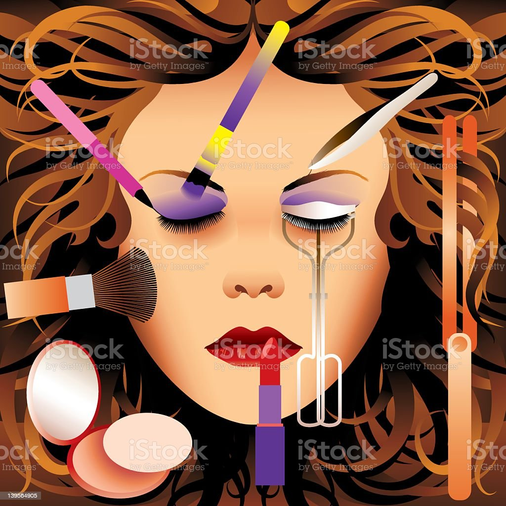 Face Cosmetics royalty-free stock vector art
