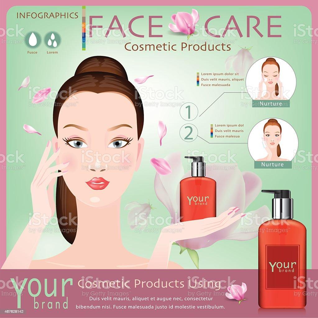 Face creams using infographics. moisturizing cream. Vector vector art illustration