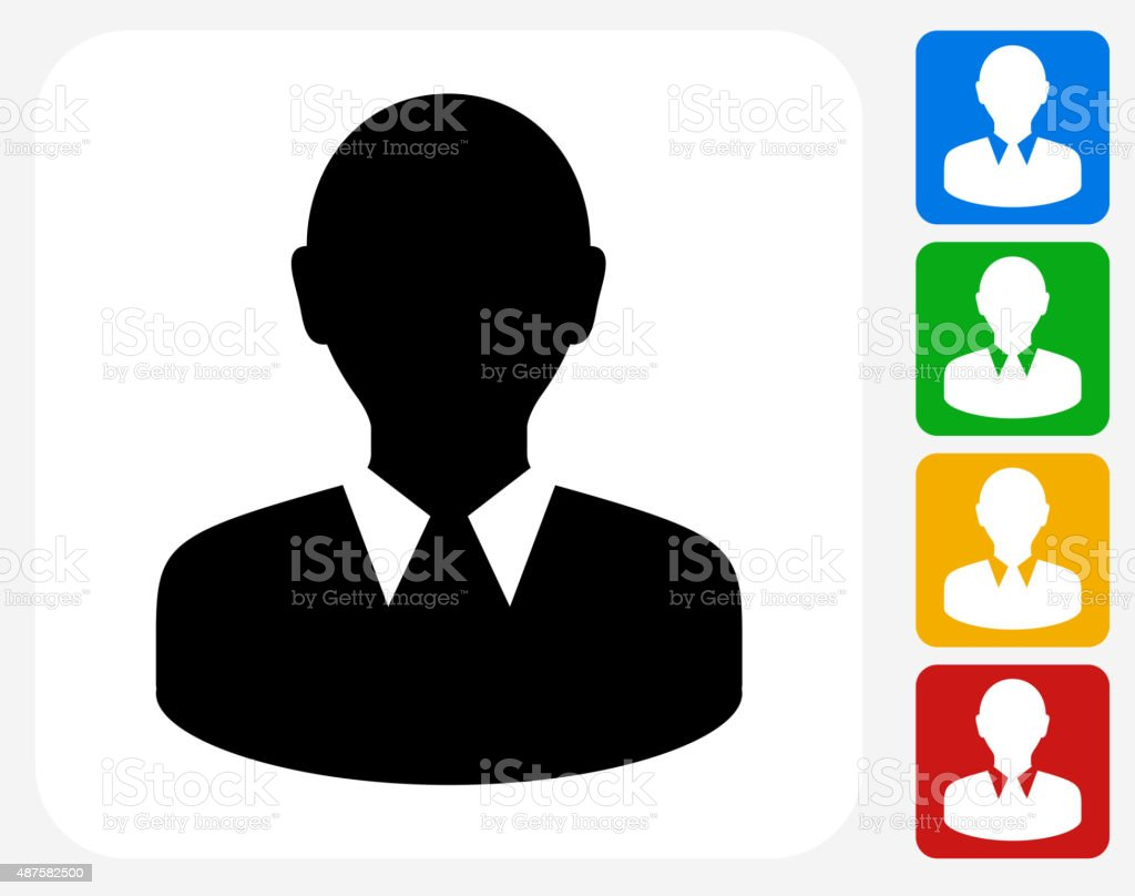 Face Icon Flat Graphic Design vector art illustration