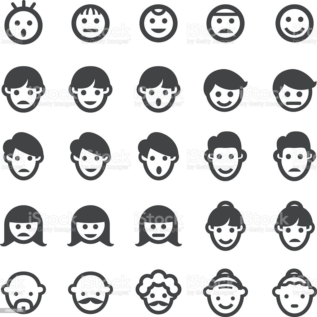 Face Icons - Smart Series vector art illustration