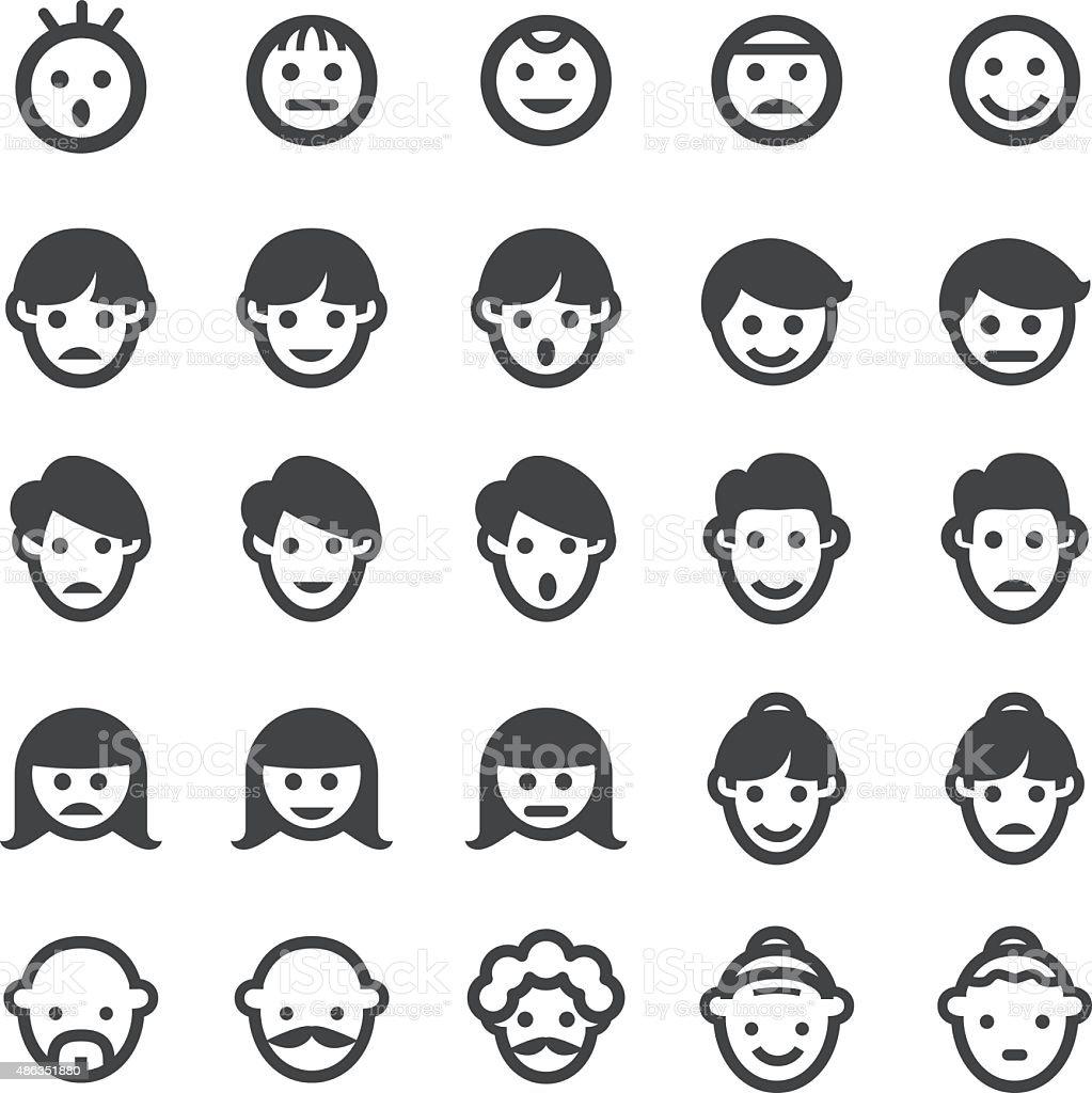 Face Icons - Smart Series vector art illustration