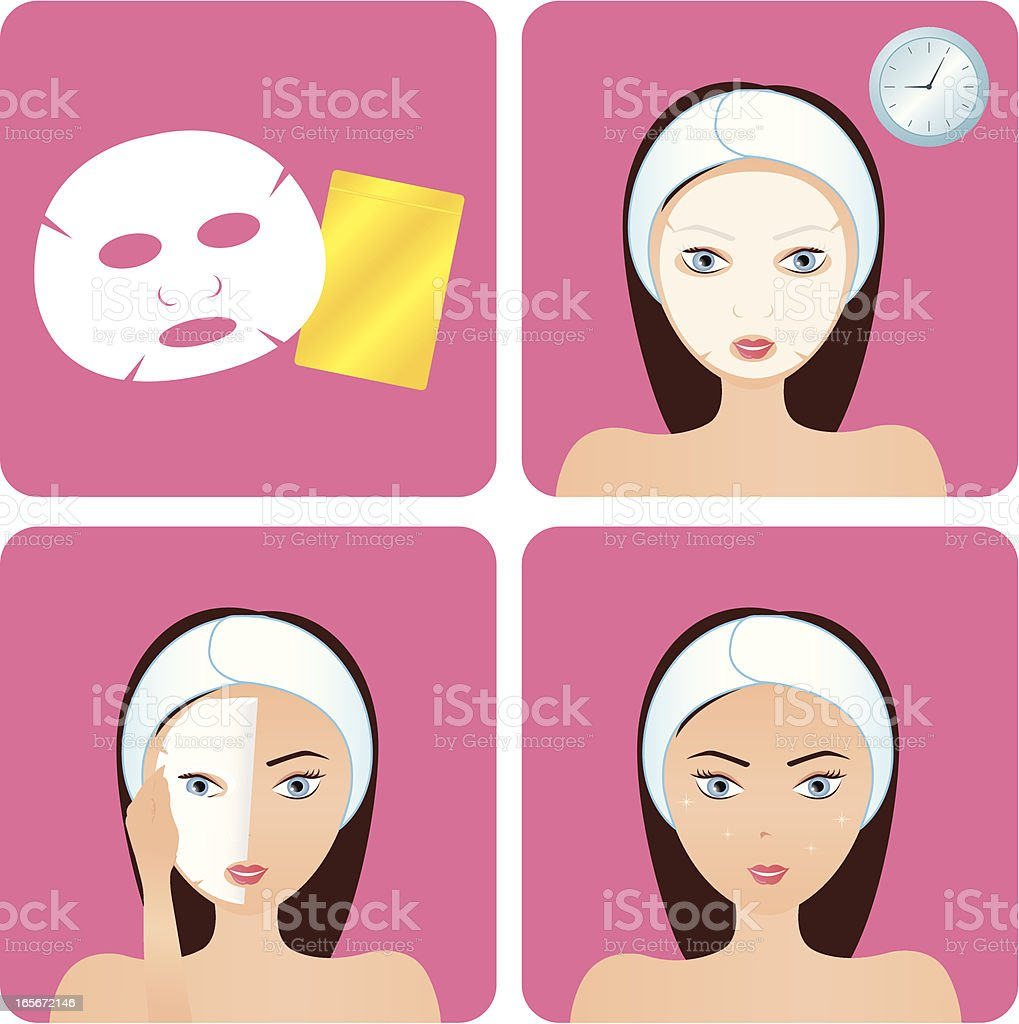 Face Mask - Step royalty-free stock vector art