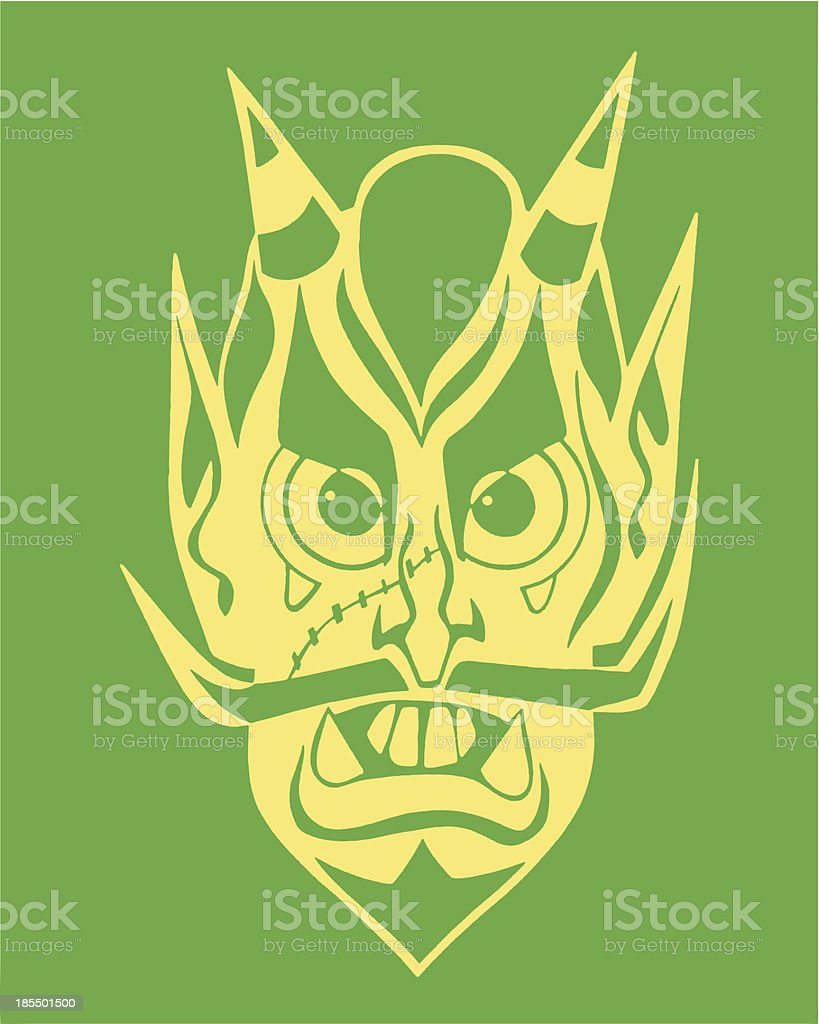 Face of a Devil royalty-free stock vector art