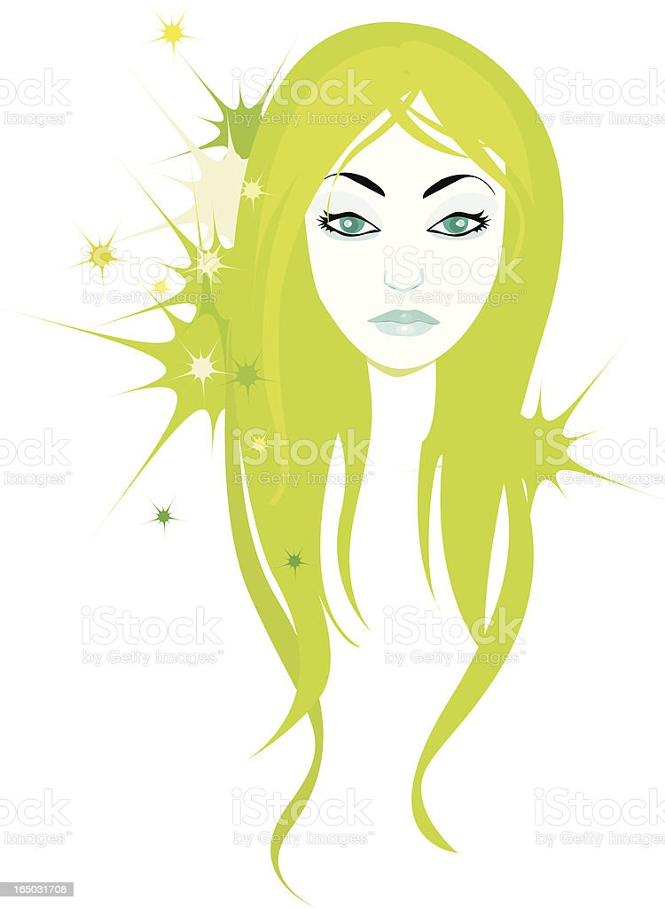 face of a girl royalty-free stock vector art