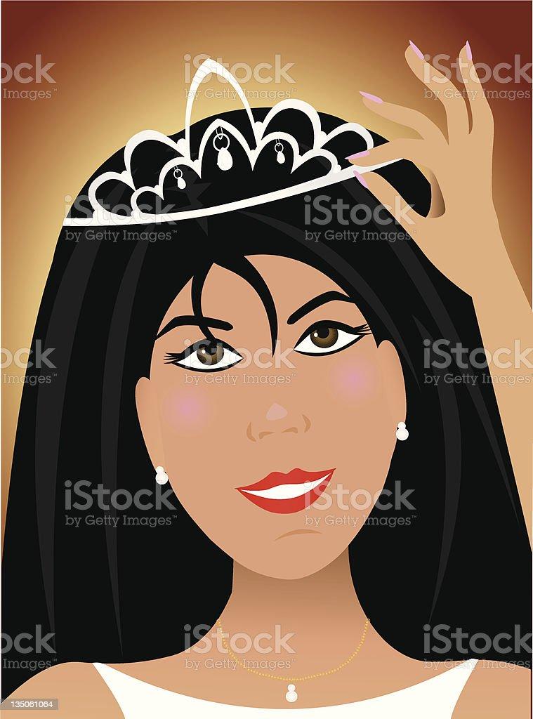 Face of Royalty vector art illustration