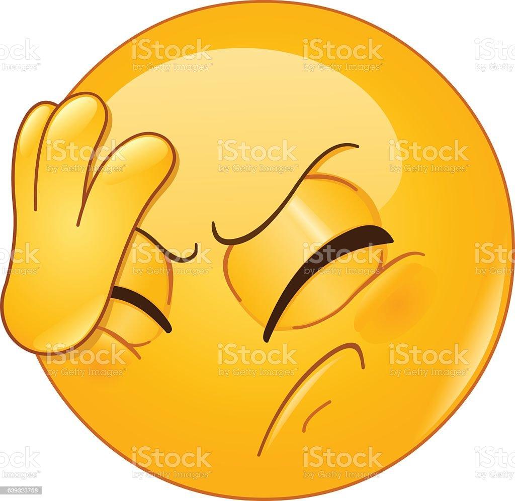 face palm emoticon vector art illustration