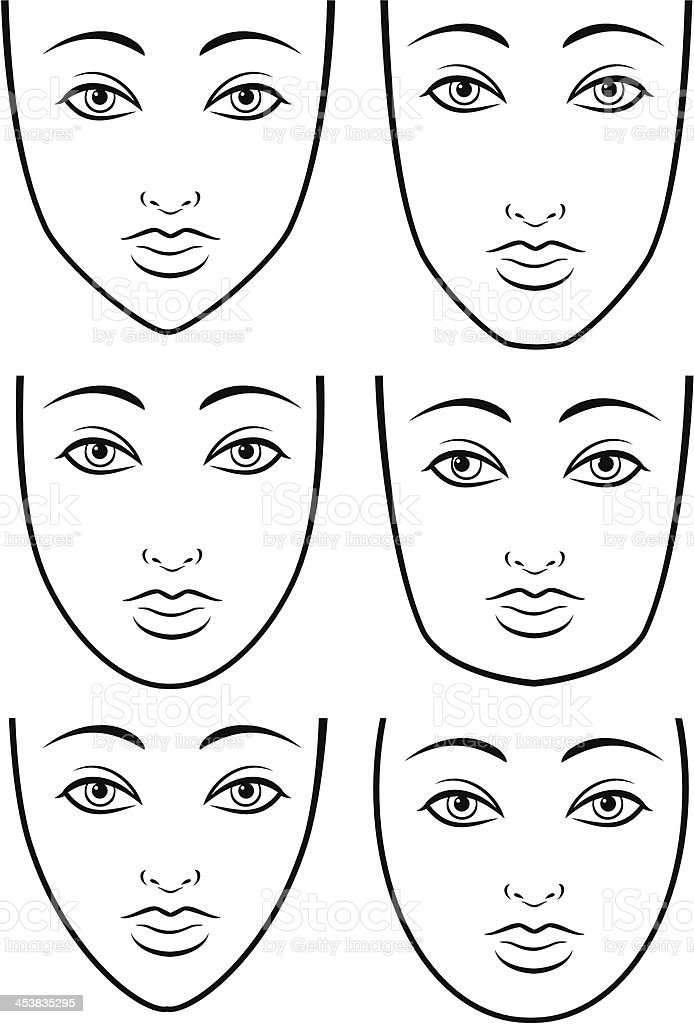 Face Shapes royalty-free stock vector art