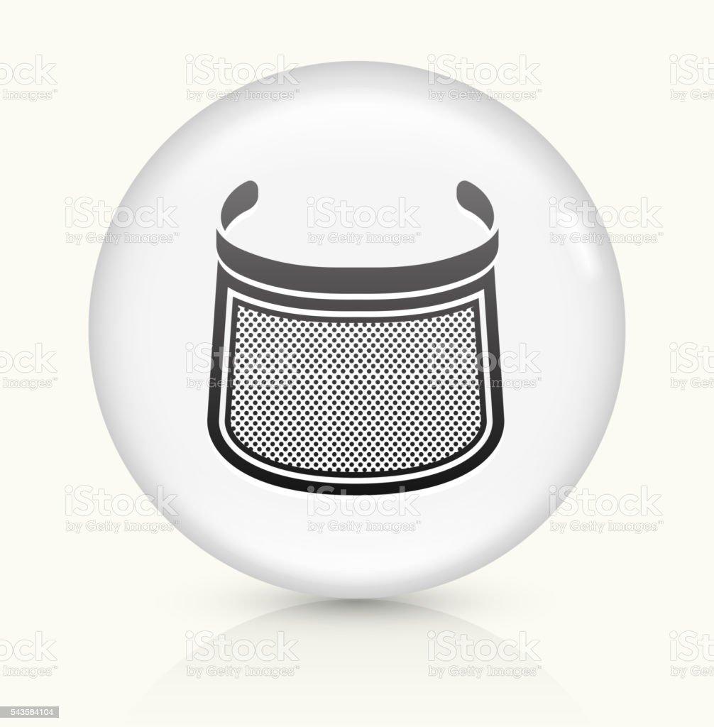Face sheild icon on white round vector button vector art illustration