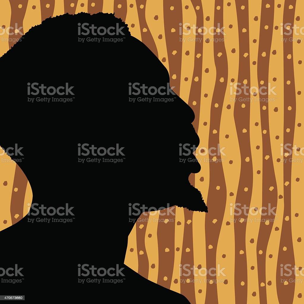 Face Silhouette Profile vector art illustration