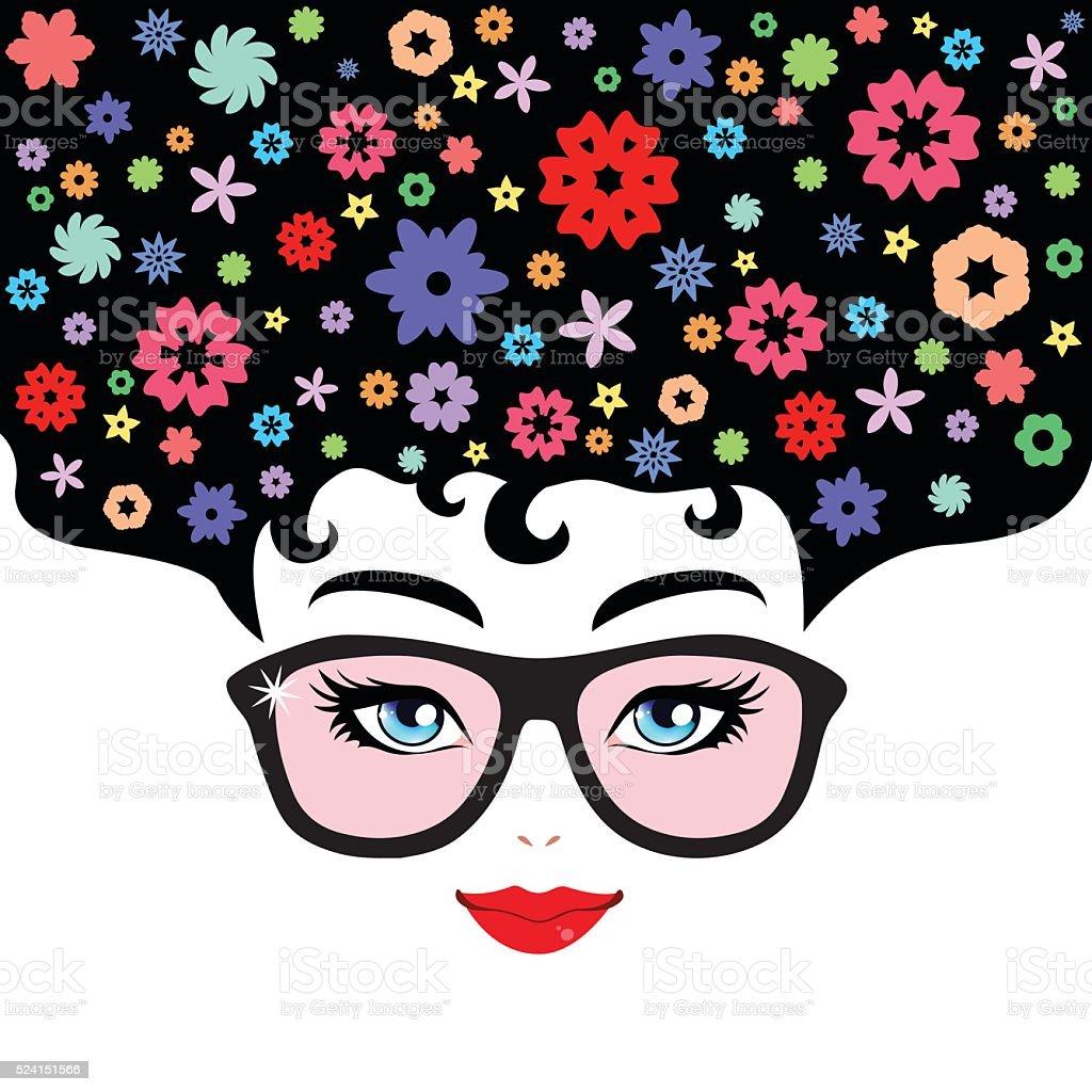 Face vector art illustration