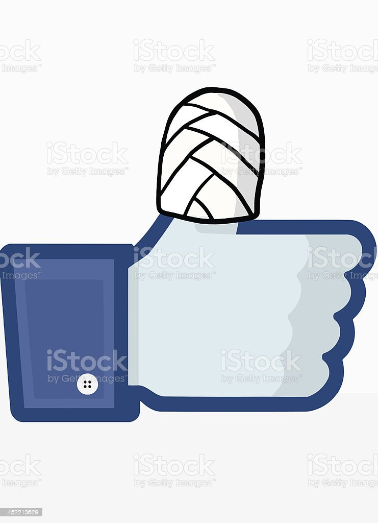 Facebook Security vector art illustration