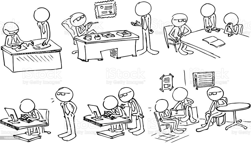 Faceless Boss vector art illustration