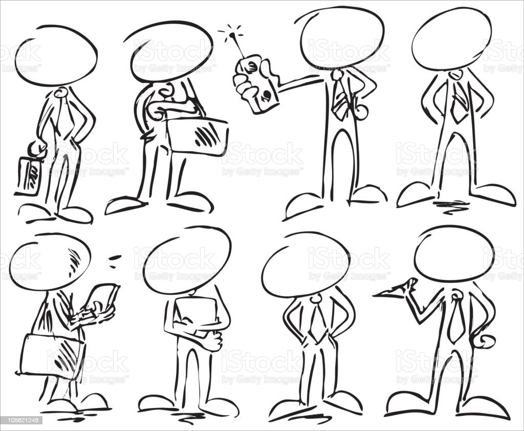 faceless businessman characters royalty-free stock vector art