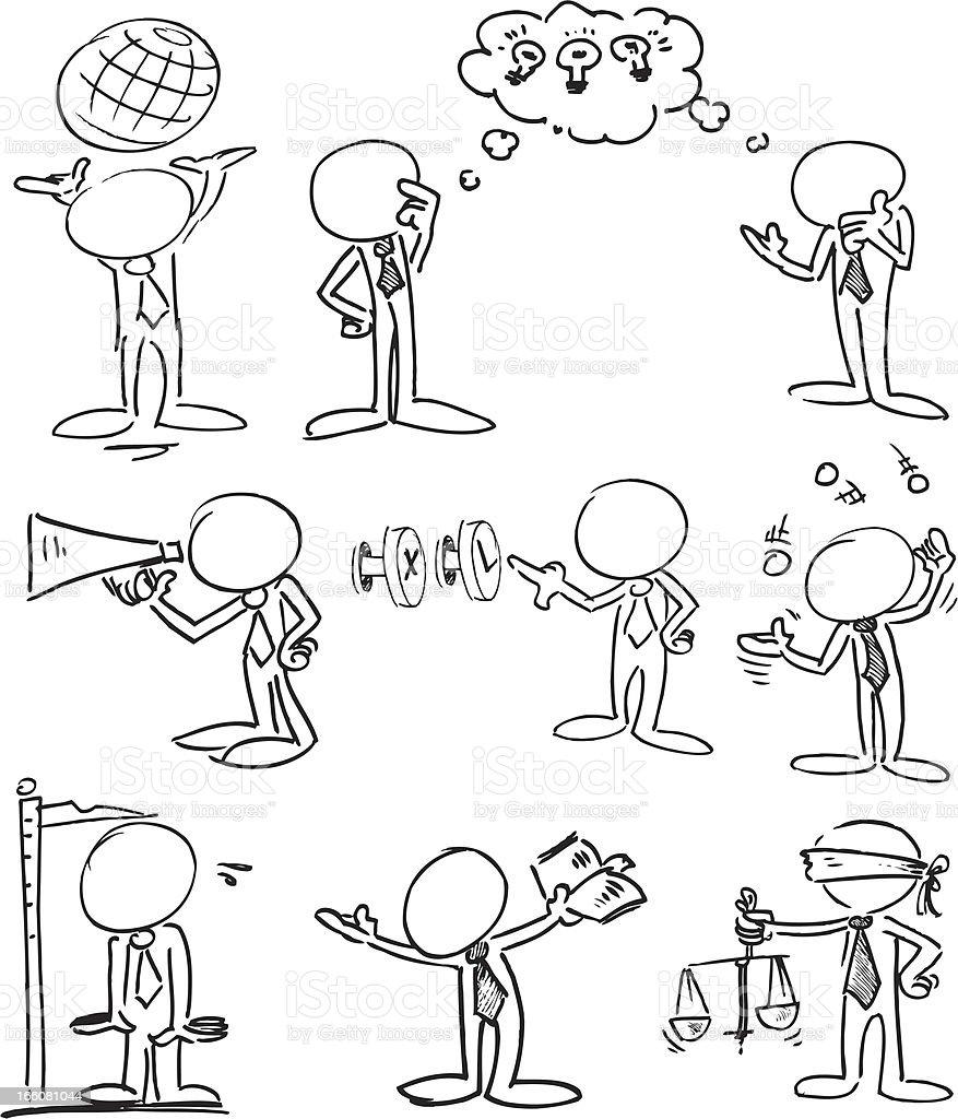 Faceless Businessmen Characters vector art illustration