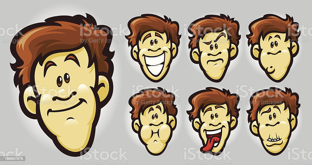 faces royalty-free stock vector art