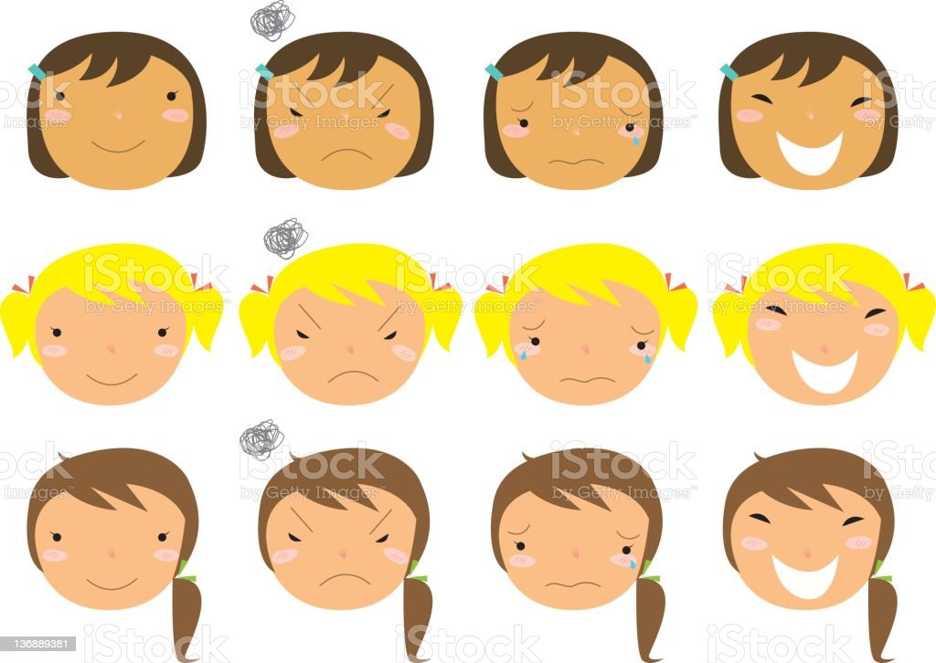 facial expressions 2 royalty-free stock vector art