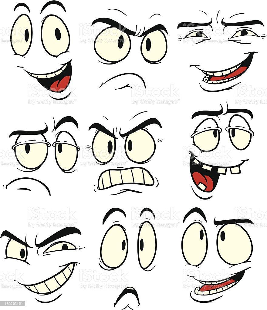 Facial expressions royalty-free stock vector art