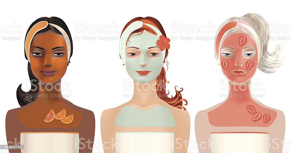 Facial Mask royalty-free stock vector art