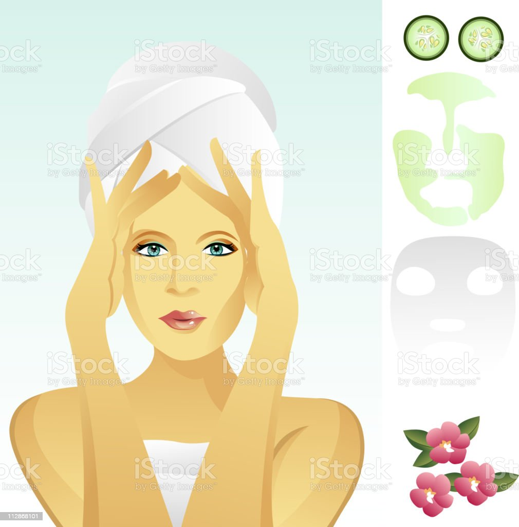 Facial Rejuvenation vector art illustration
