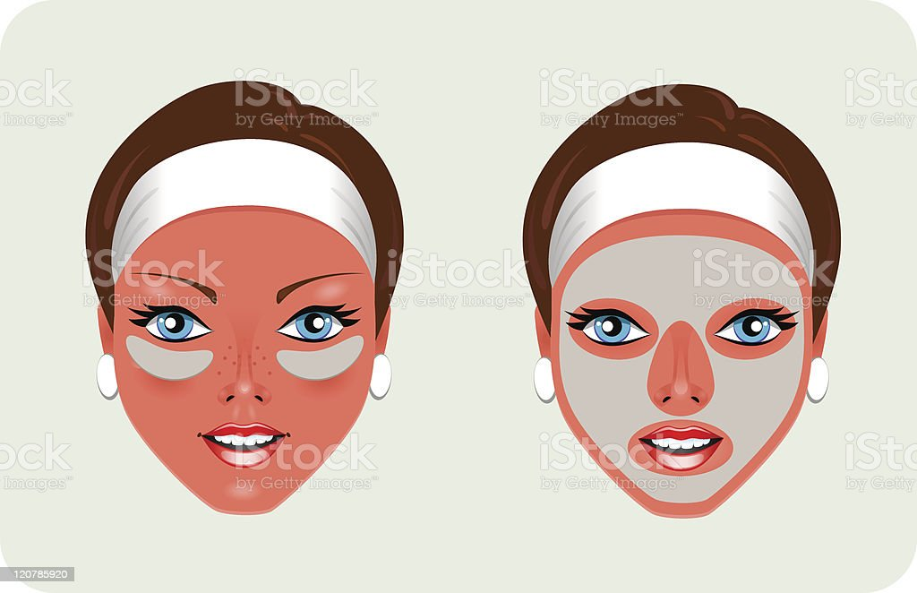 Facial Rejuvenation (mask) royalty-free stock vector art