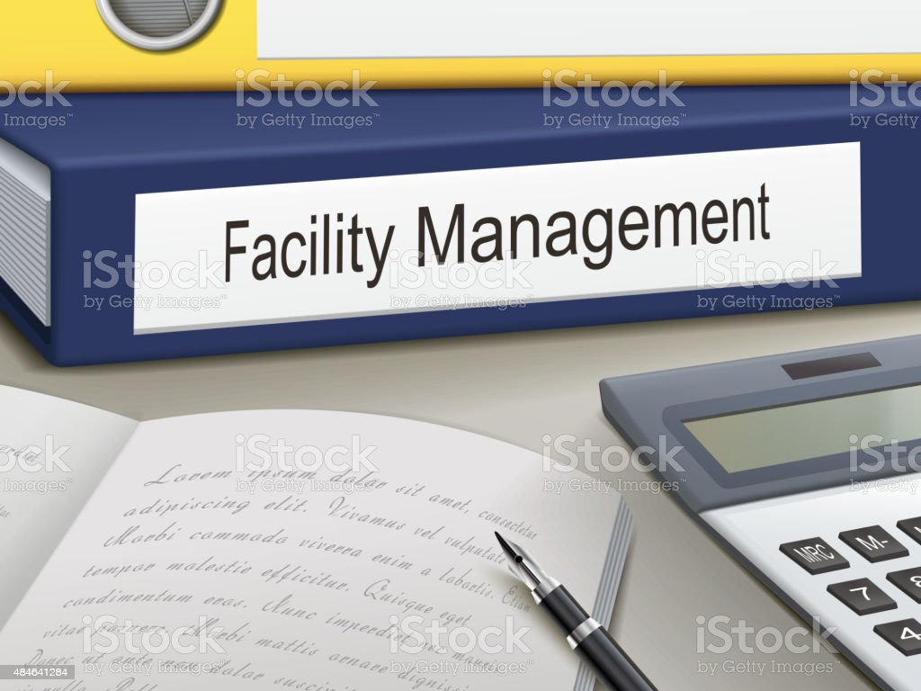 facility management binders vector art illustration