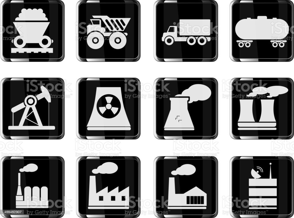 Factory and Industry Symbols royalty-free stock vector art
