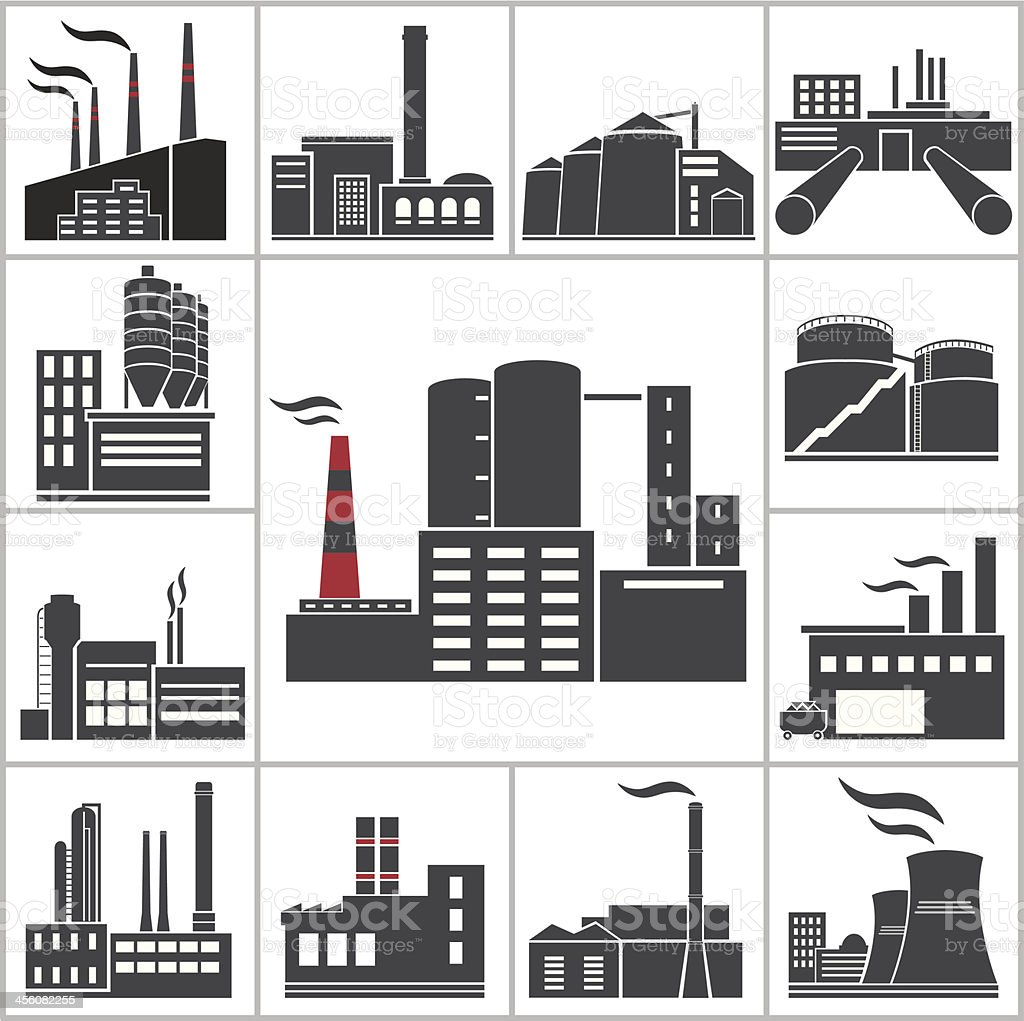 Factory and Industry vector art illustration