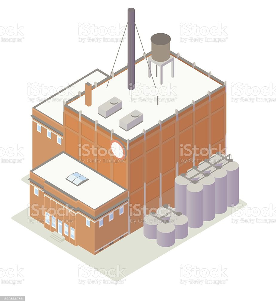Factory building illustration vector art illustration