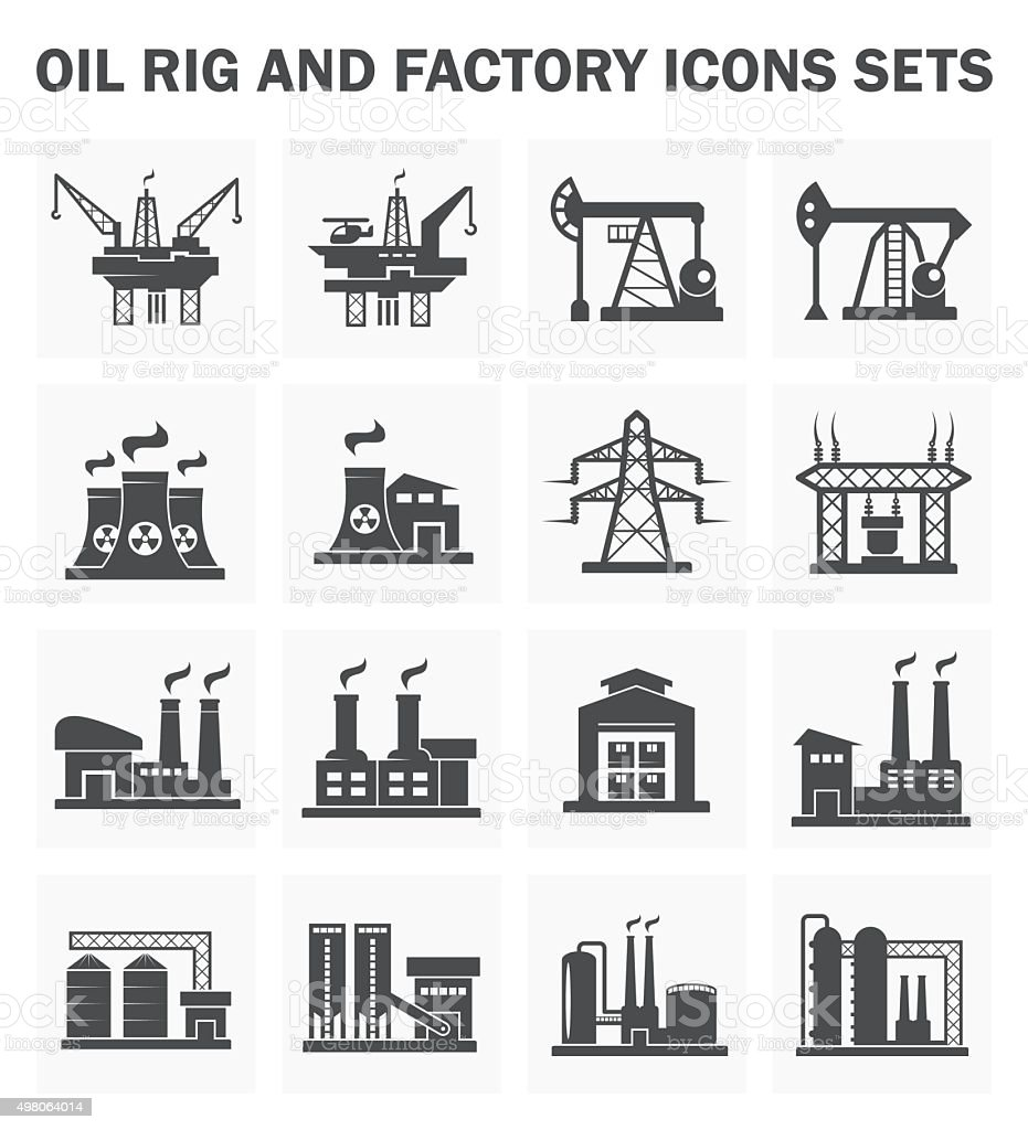 Factory building vector art illustration