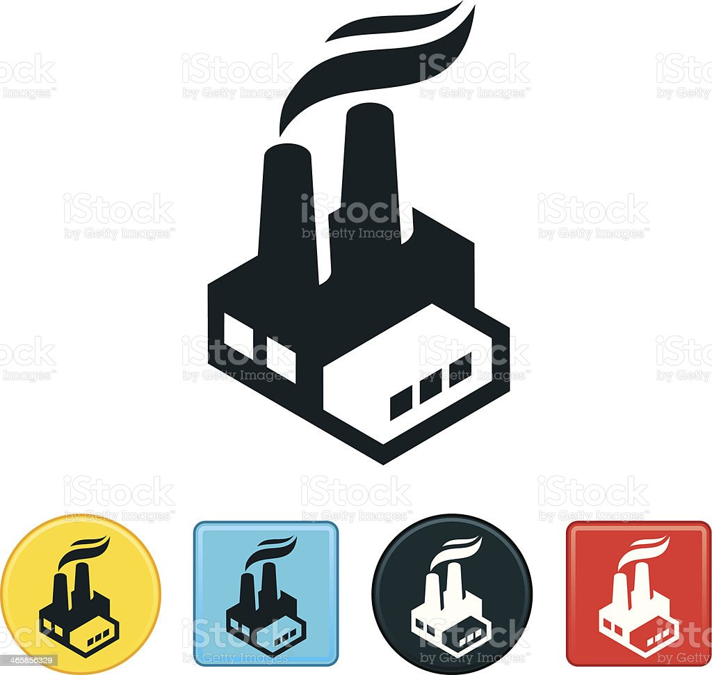 Factory Icon vector art illustration