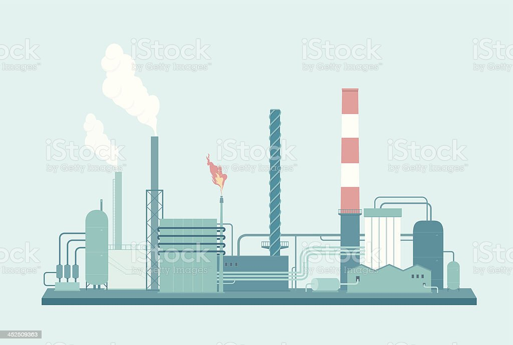 Factory vector art illustration