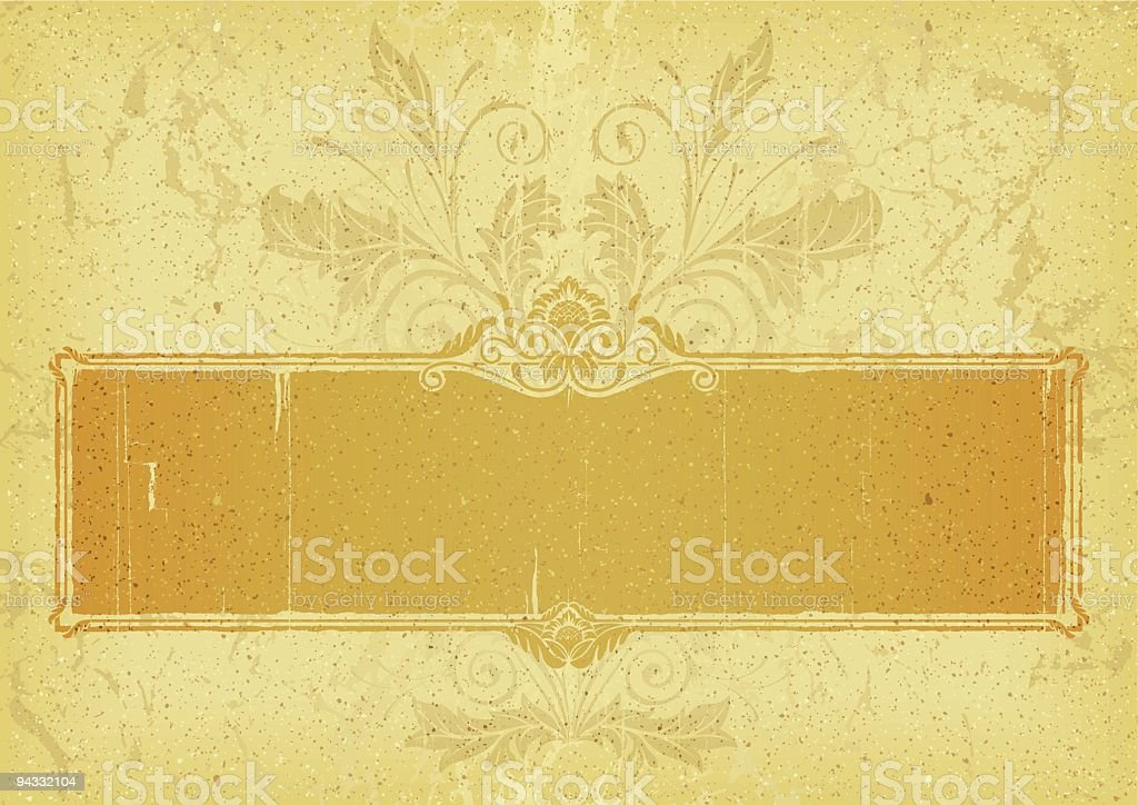 Faded, Antique Plaque royalty-free stock vector art