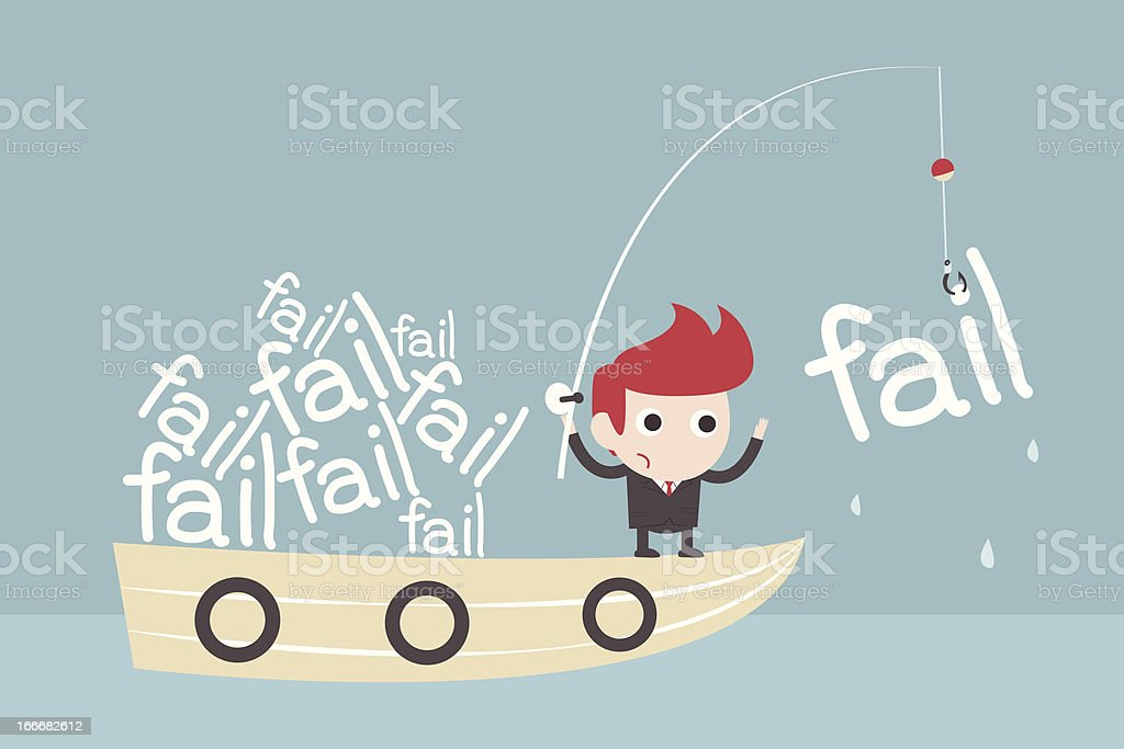fail fishing - investment concept royalty-free stock vector art