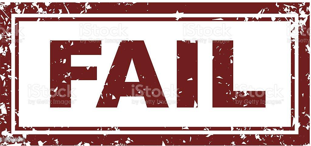 Fail Stamp vector art illustration