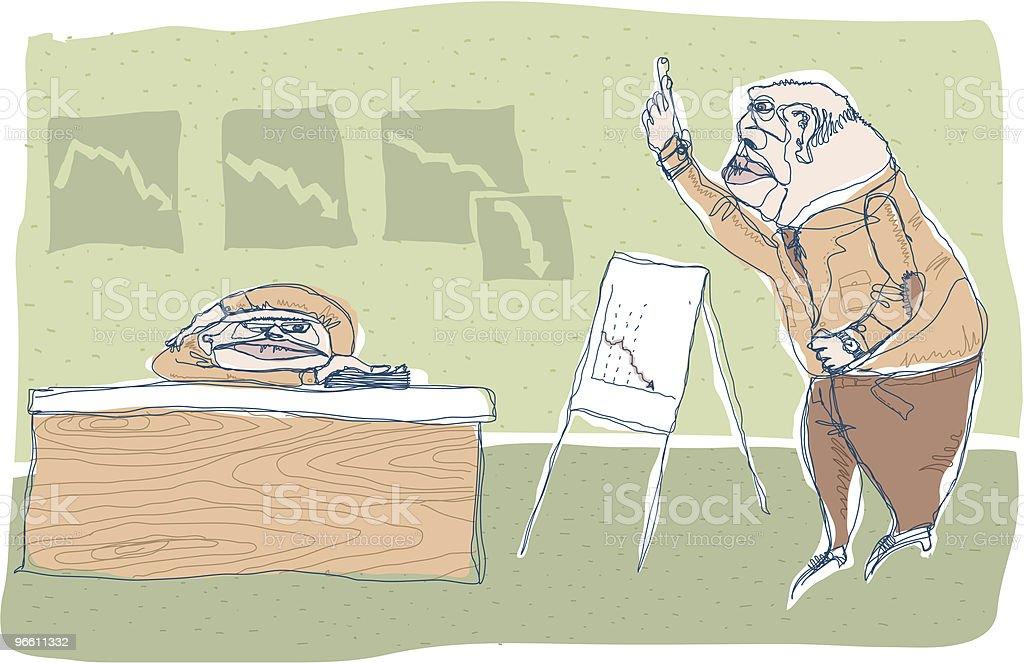 Failing Business royalty-free stock vector art
