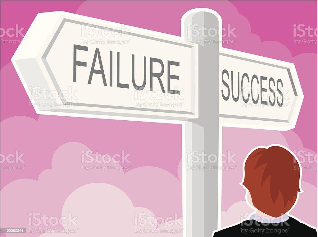 Failure/Success Sign royalty-free stock vector art