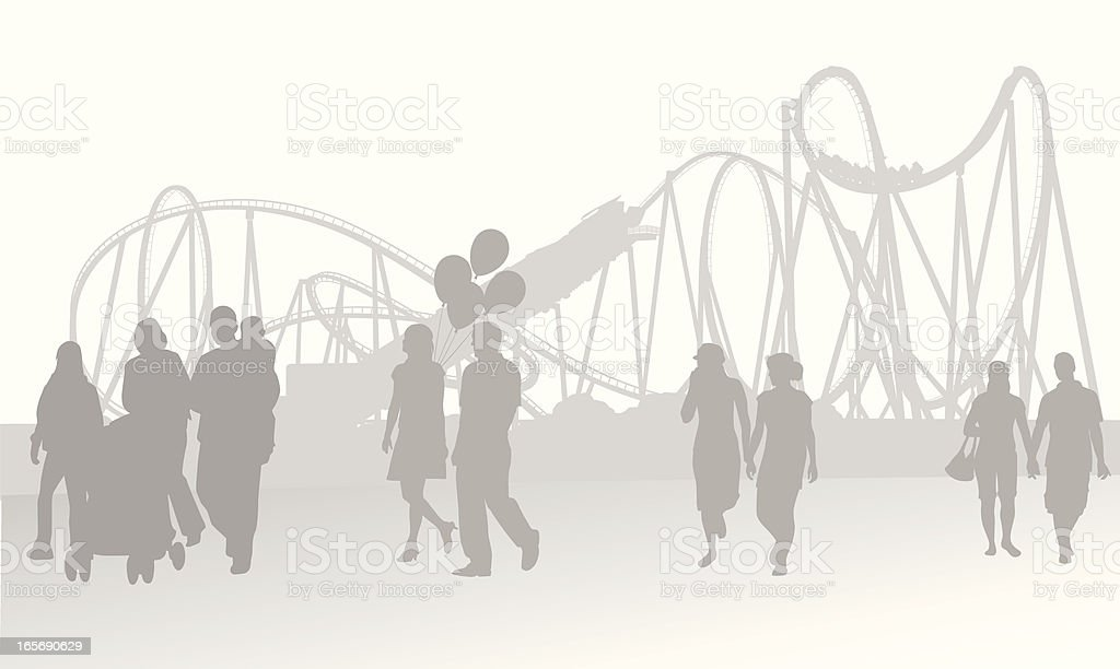 Fair Background Vector Silhouette royalty-free stock vector art