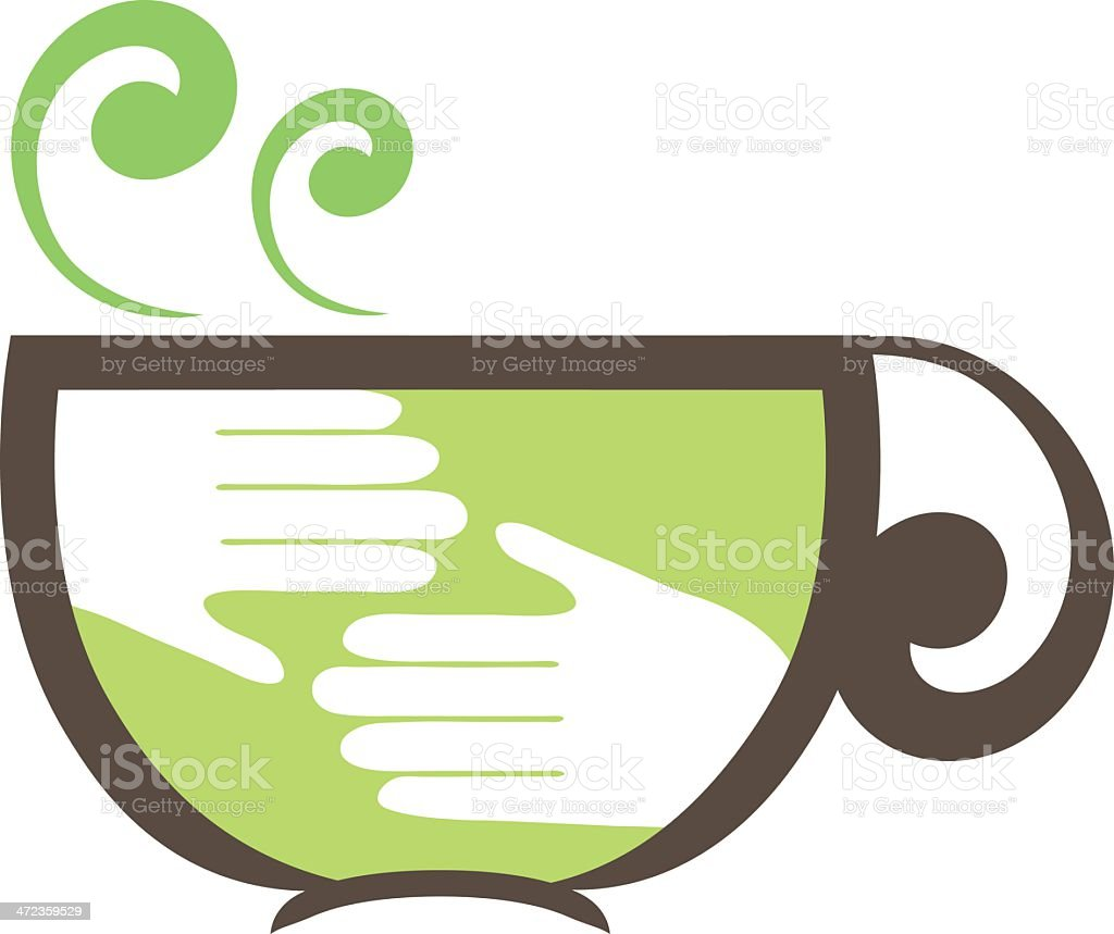 Fair Trade Coffee Symbol vector art illustration