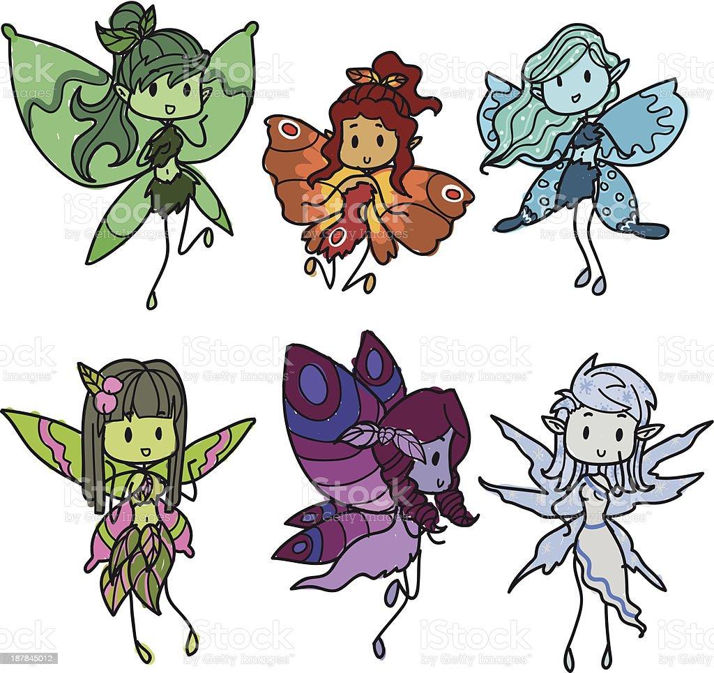 fairies royalty-free stock vector art