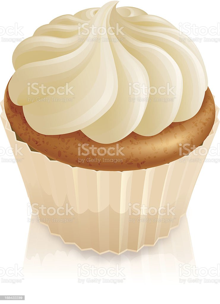 Fairy cake cupcake vector art illustration