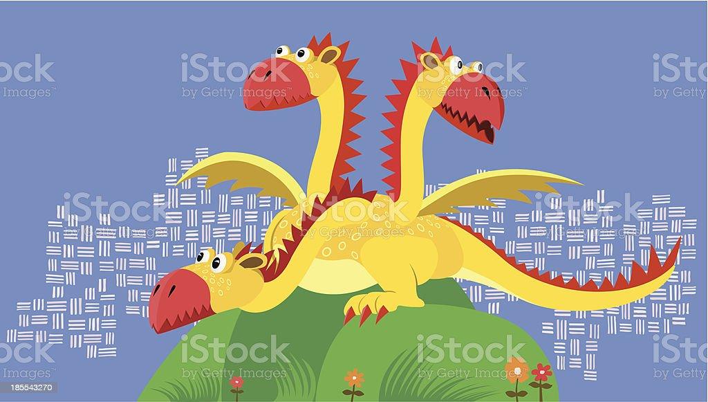 fairy flying dragon royalty-free stock vector art