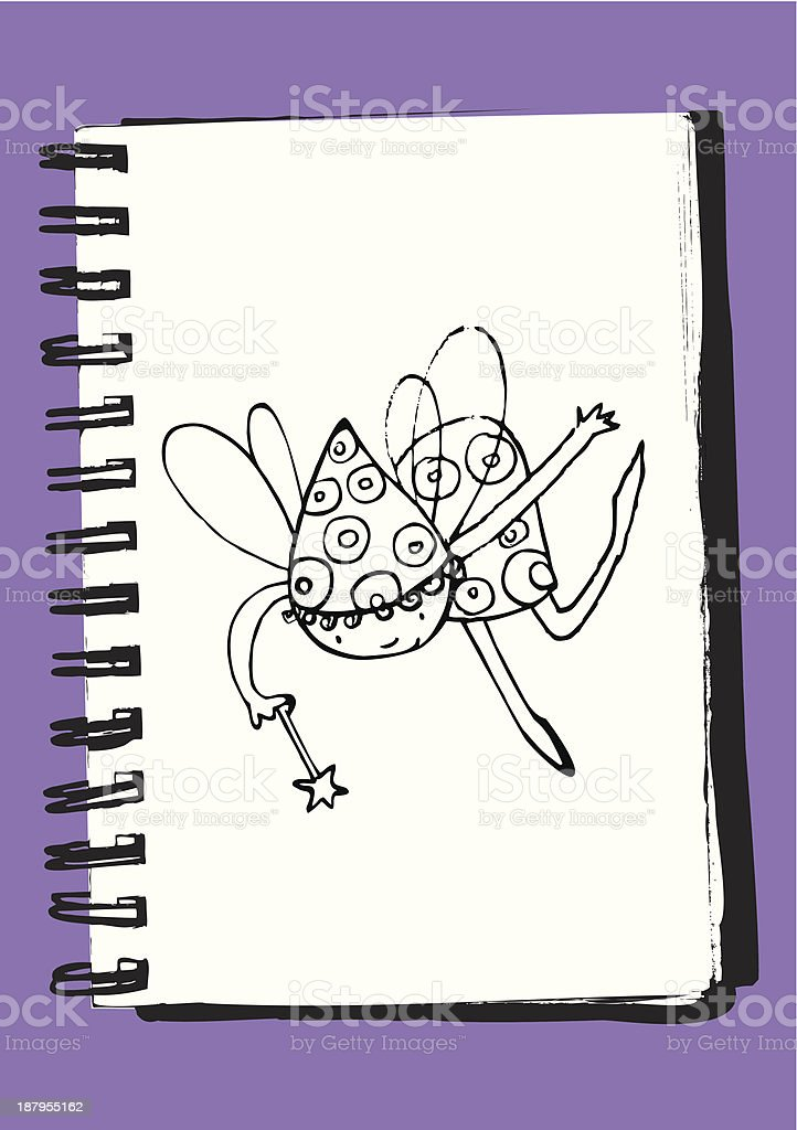 Fairy girl royalty-free stock vector art